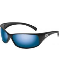 Bolle Odrzut błyszczące czarne okulary polaryzacyjne morskie niebieskie