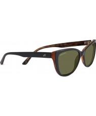 Serengeti Sophia błyszczące czarne okulary spolaryzowane 555nm