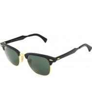 RayBan Rb3507 51 Clubmaster aluminiowa czarna Arista 136-N5 spolaryzowane okulary