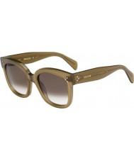 Celine Panie cl 41805-s qp4 Z3 wojskowe zielone okulary
