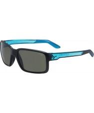 Cebe Stary czarny matowy krystalicznie niebieskie okulary