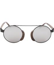 Swole Panda Morfeusz brązowe okulary spolaryzowane bambusowe