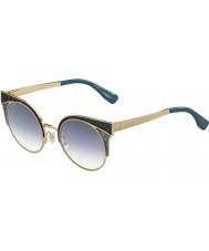 Jimmy Choo Panie ORA-S psx U3 złote wojskowe zielone okulary