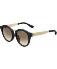 Jimmy Choo Ladies Pepy-S QFE jd czarna róża złote okulary