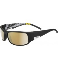 Bolle Król błyszcząca czarna góra spolaryzowane okulary AG-14