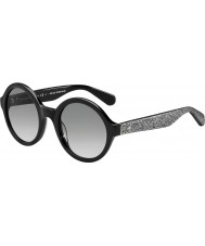 Kate Spade New York khrista-S Women s2j o0 black silver glittery okulary