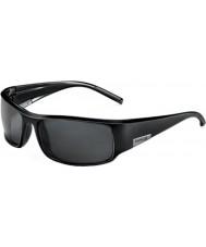 Bolle Król błyszczące czarne okulary TNS
