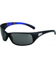Bolle Recoil matowe niebieskie pasy modulator spolaryzowane okulary szary