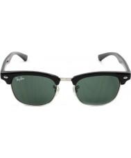 RayBan Junior Rj9050s 45 Clubmaster okulary czarne 100-71