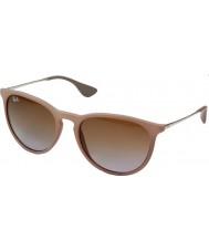 RayBan Rb4171 54 Erika ciemne okulary gumy piasek 600068