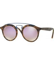 RayBan Rb4256 49 Gatsby matowe lustrzane okulary Havana 6266b0 bzu