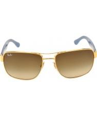 RayBan Rb3530 58 Highstreet złota 001-13 okulary gradientu