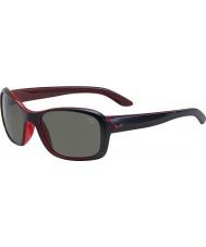 Cebe Idylla matowe czarne kryształowe różowe okulary