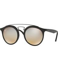 RayBan Rb4256 49 Gatsby matte black 6253b8 szare lustrzane okulary